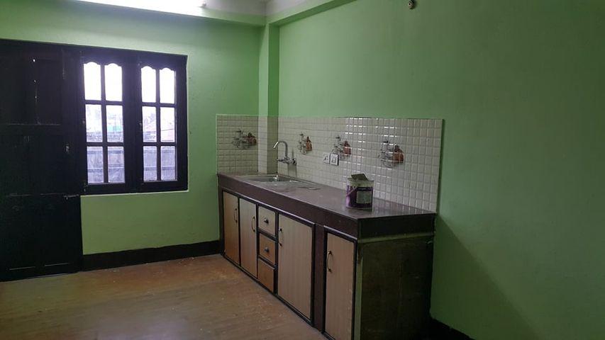 2 bedrooms, living room, kitchen, bathroom flat