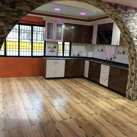 2 bedroom, living room, kitchen, bathroom flat