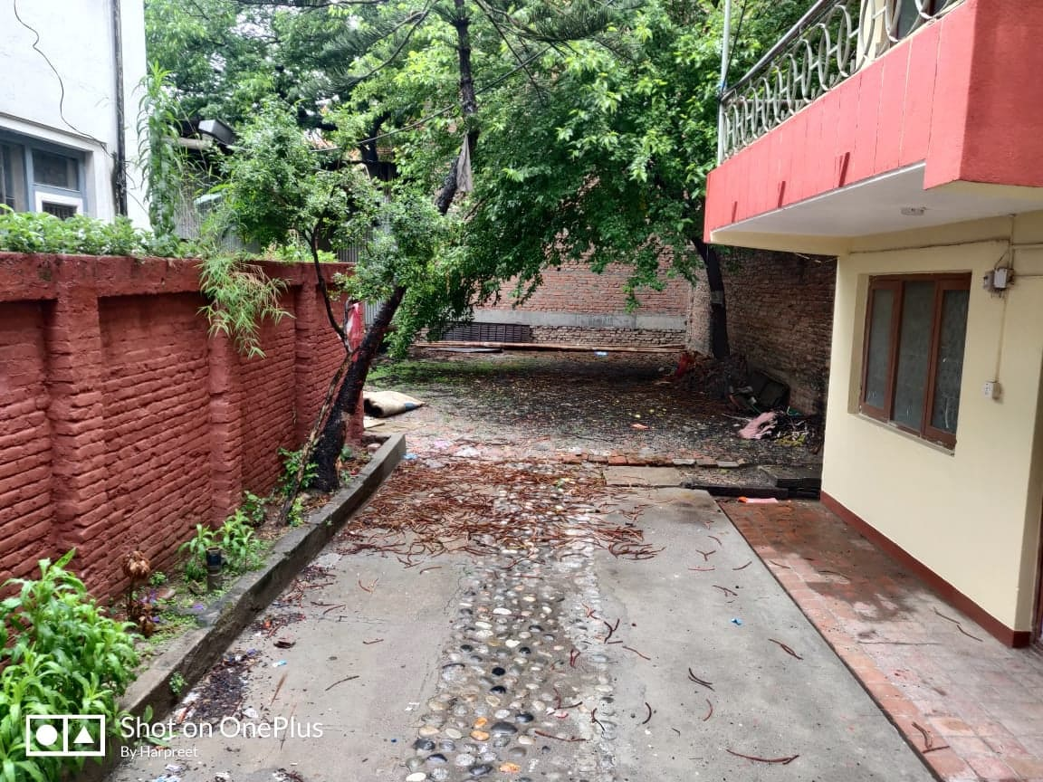 House with 12 aana land and 3000 sq ft godown